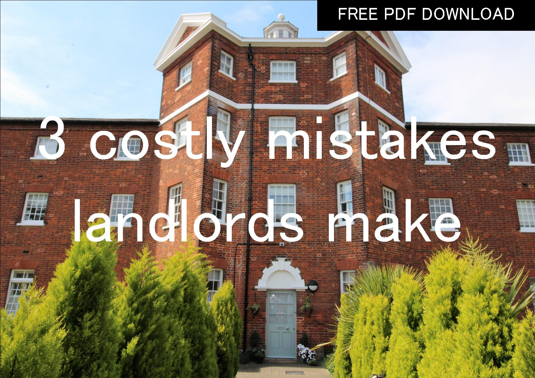 3 costly mistakes landlords make when letting a property